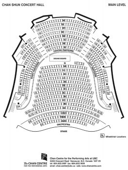 Venue Floor Plans Chan Centre